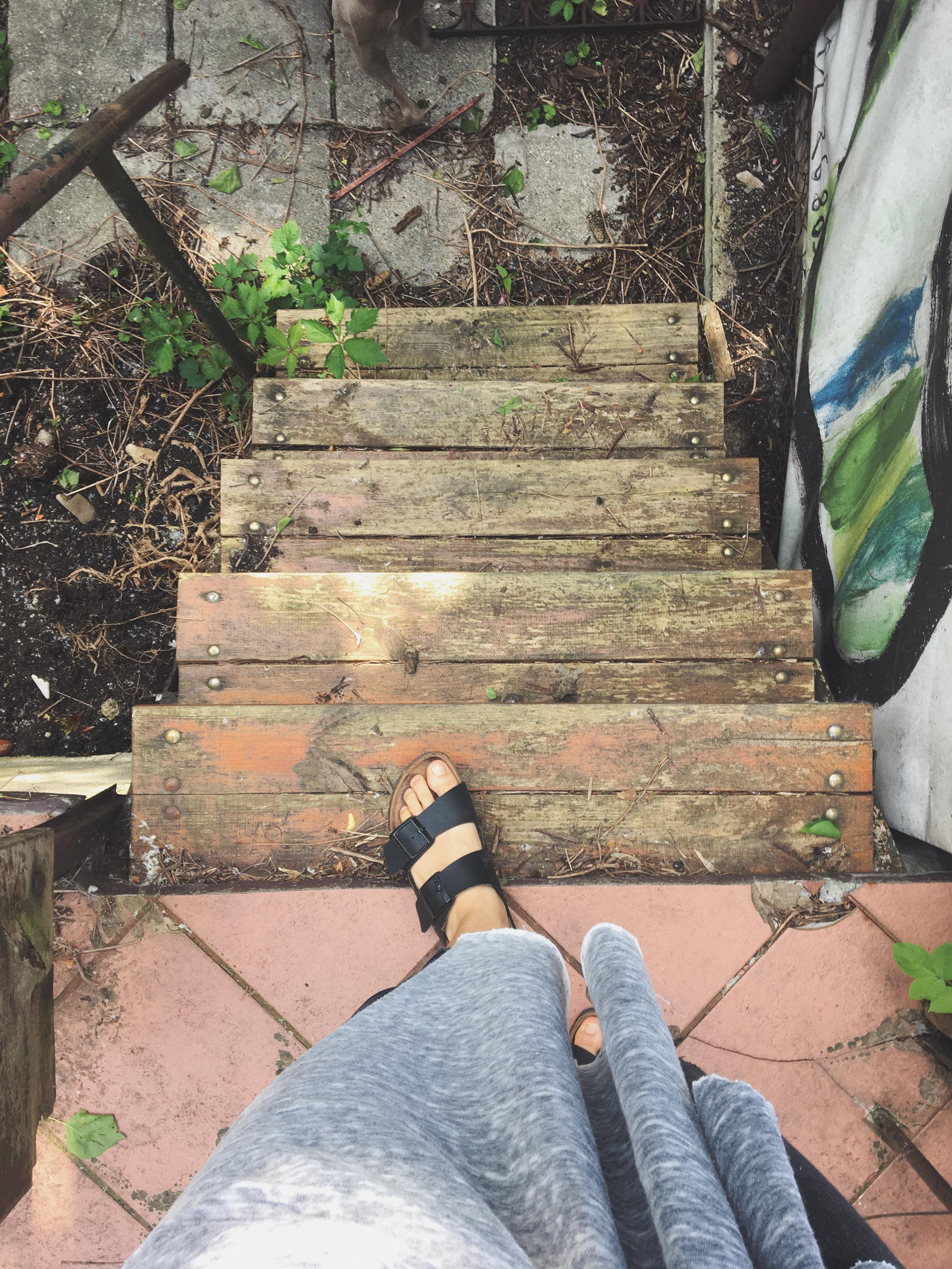 Schody na ogród.
