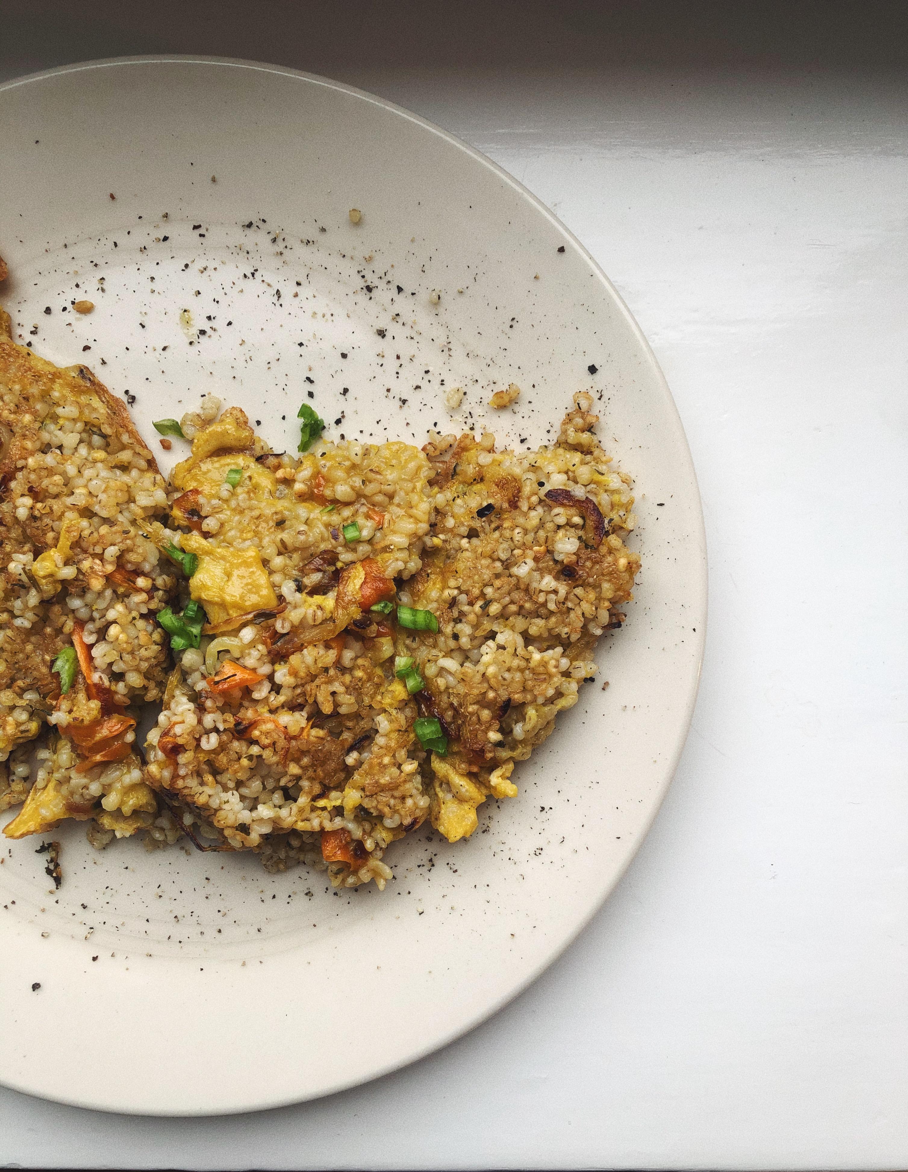 omlet z kaszy