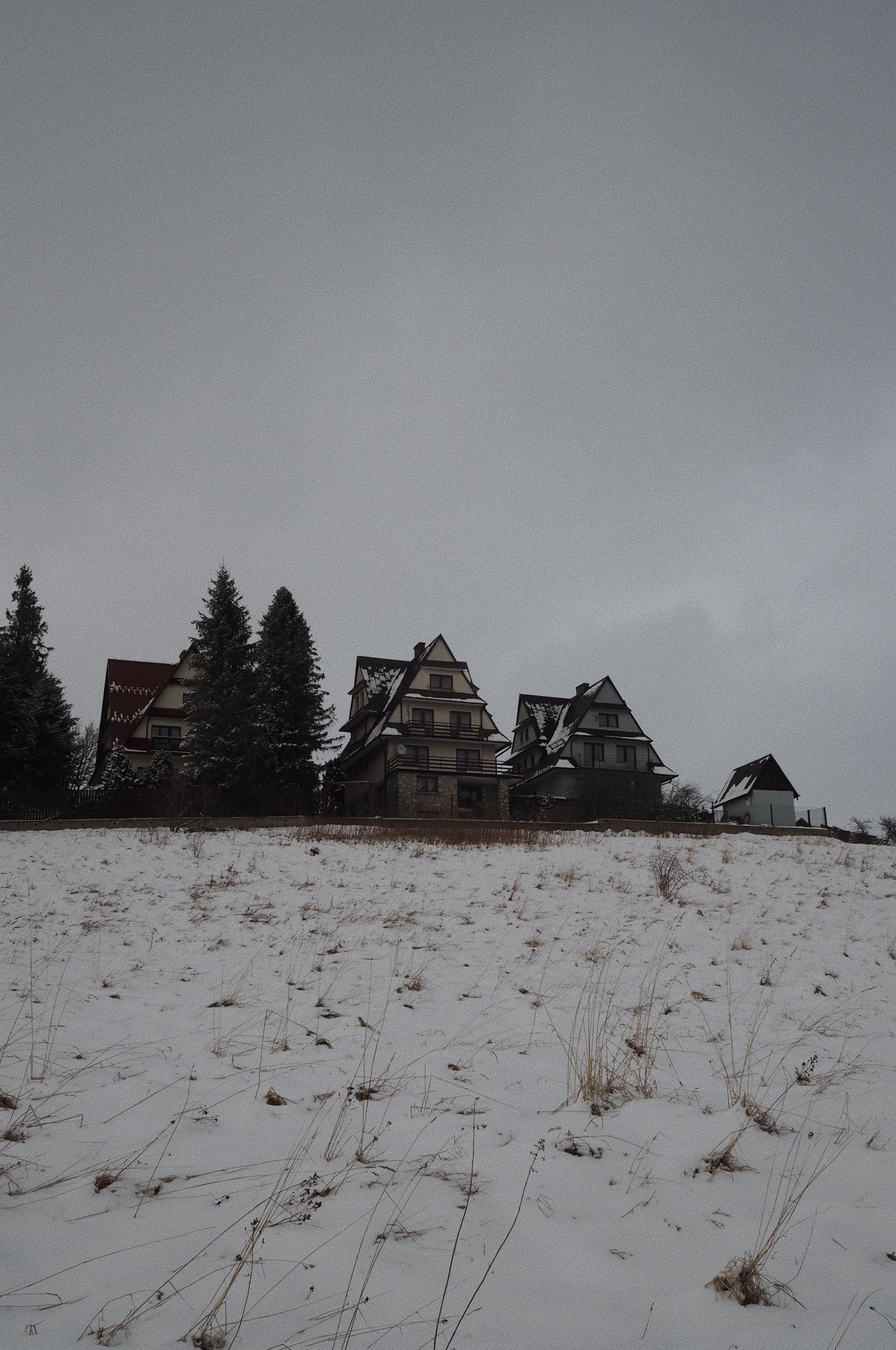 góralskie domki w Bukowinie Tatrzańskiej