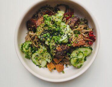 tempeh tofu soba bowl