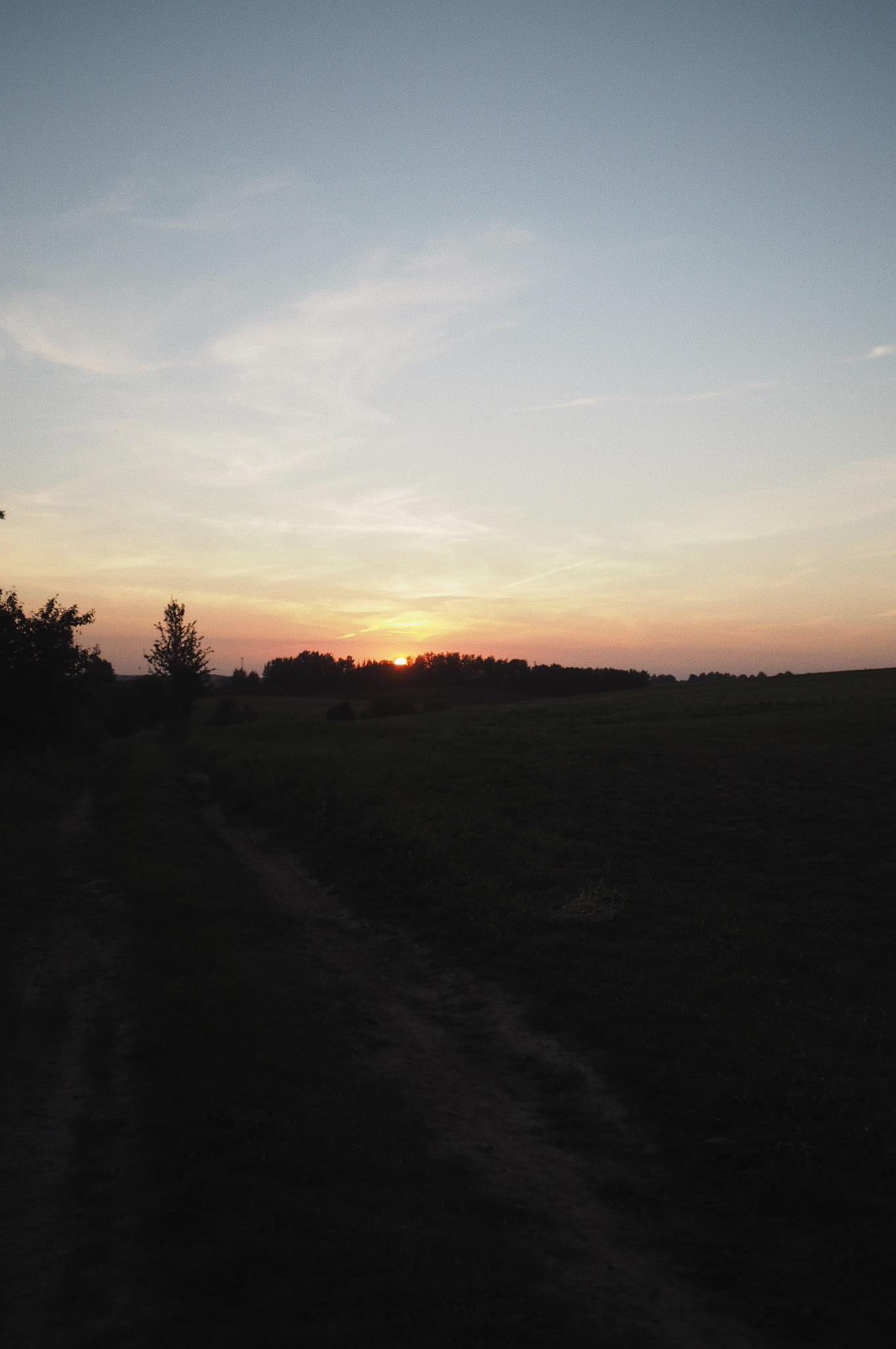 Mazury zachód słońca